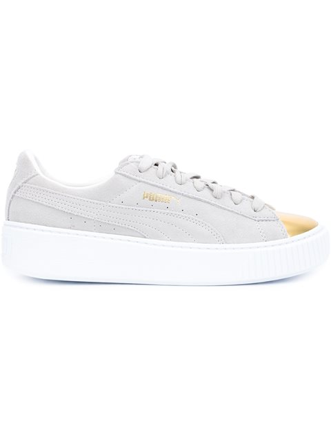 PUMA Women S Suede Platform Gold Casual Sneakers From Finish Line ... fc56d583d