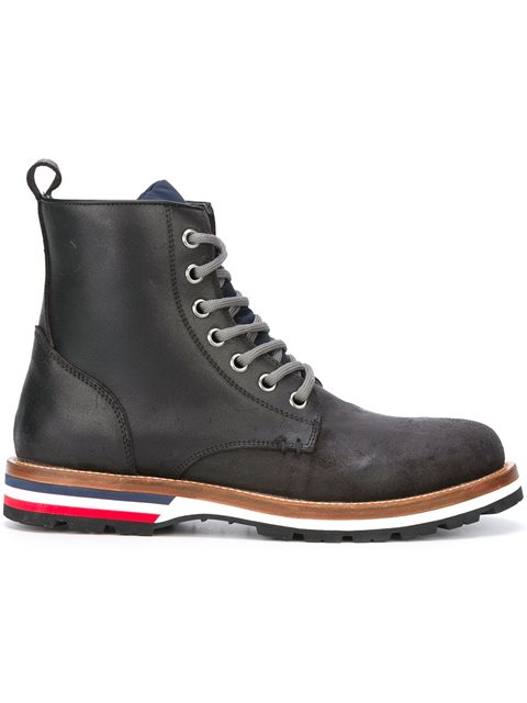 MONCLER New Vancouver Suede And Shell Boots - Storm Blue in Black