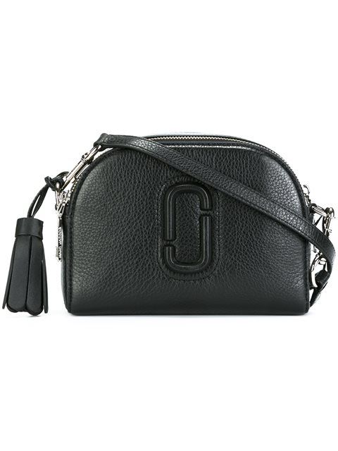 Small Shutter Leather Camera Bag - Black