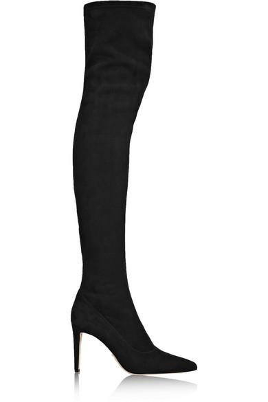 Women'S Matrix Suede Over-The-Knee Boots in Black