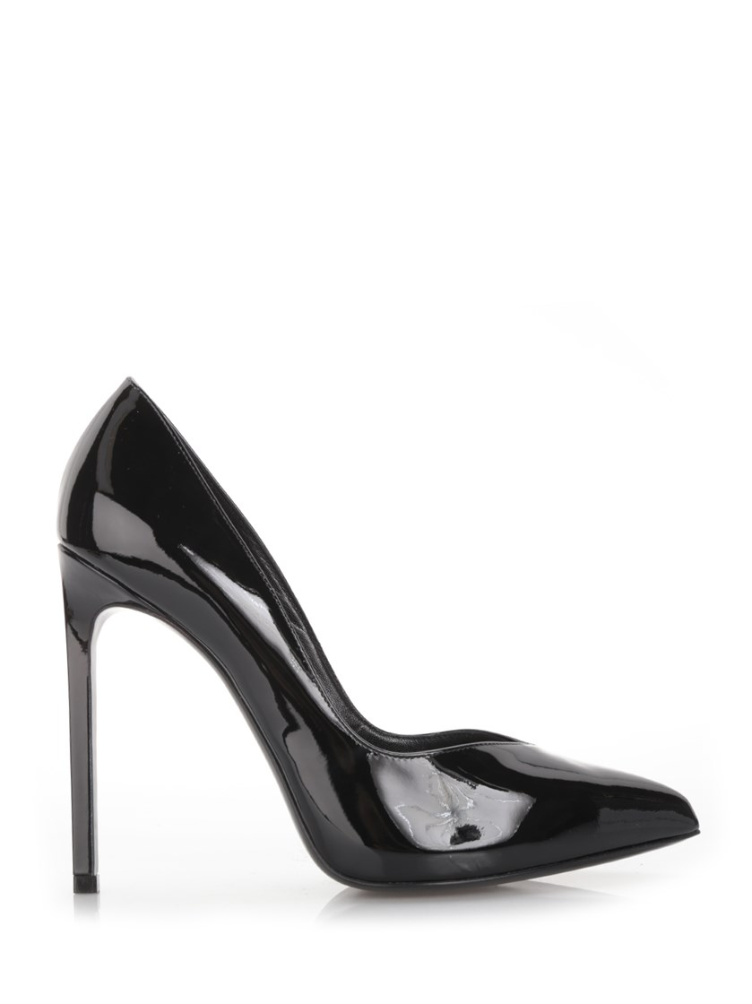SAINT LAURENT Patent Leather 'Paris Skinny' Pumps in Black