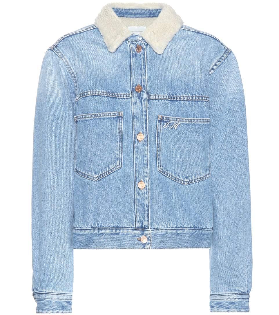 Isabel Marant Étoile Fur Collar Denim Jacket, Blue