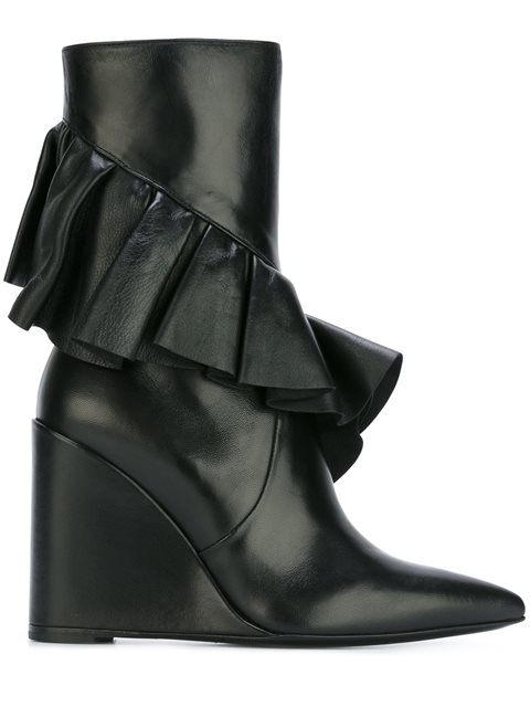 J.W. Anderson Women'S  Black Leather Ankle Boots