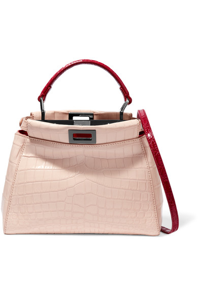 7c707b4fc ... discount code for fendi peekaboo small crocodile shoulder bag d8e73  374e1