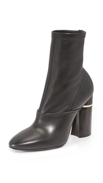 Kyoto Leather Ankle Boots - Black Size 8