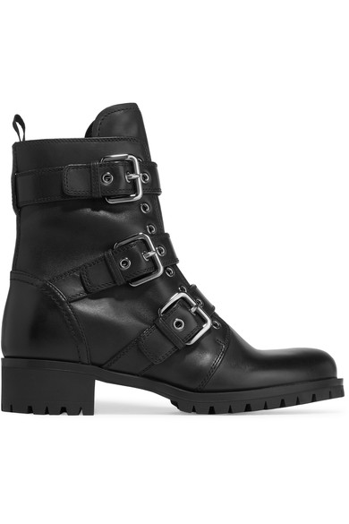 Collections Sale Online Prada Leather Buckle Booties Sale Footlocker Pictures EoZaopa3