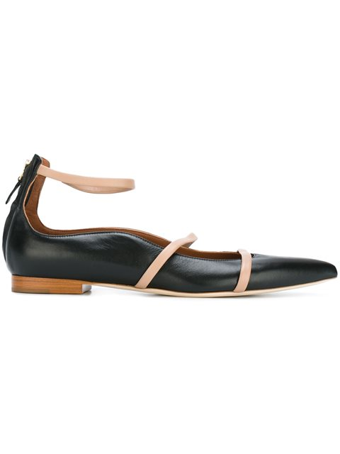 MALONE SOULIERS Designer Shoes, Robyn Flat Velvet and Burgundy Nappa Ballerinas