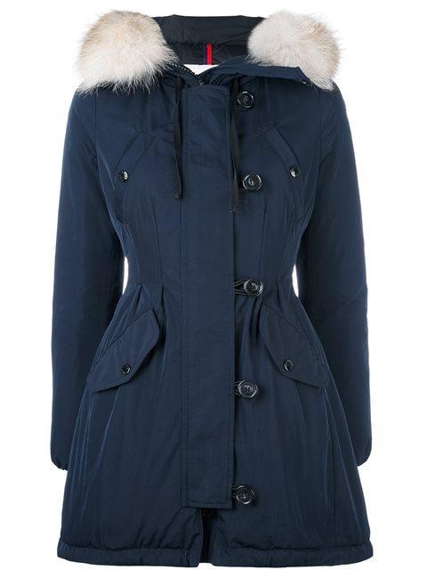 Arriette Fur-Trim Puffer Coat, Blue