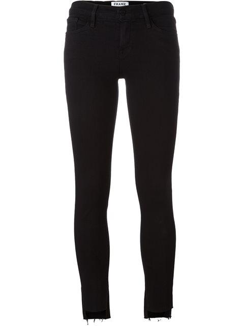 Le Skinny De Jeanne Asymmetric Mid-Rise Jeans in Black