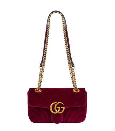 gucci velvet marmont. gucci gg marmont medium quilted velvet shoulder bag in rouge gucci