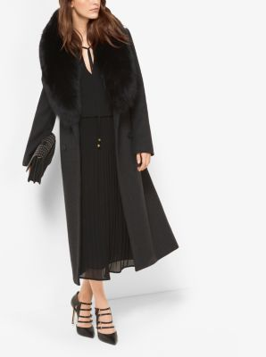 MICHAEL MICHAEL KORS Fur-Trimmed Wool And Cashmere Coat | ModeSens