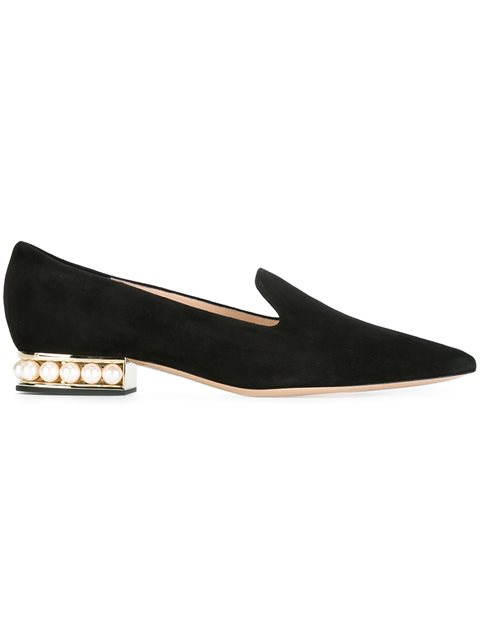 18Mm Casati Pearl Loafers in Black