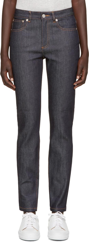 Standard Court Straight-Leg Jeans in Blue