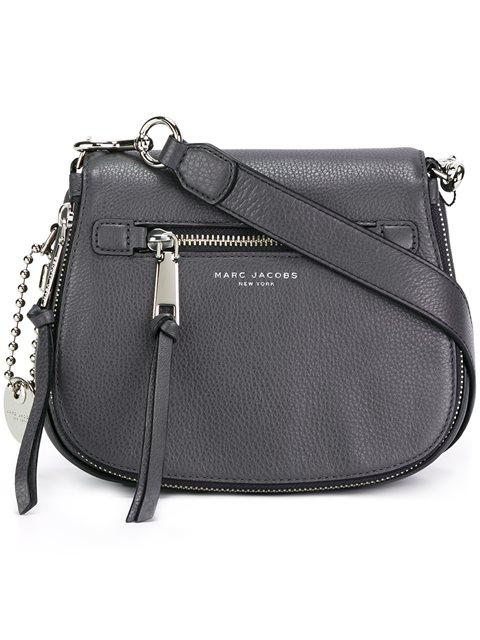 Recruit Nomad Pebbled Leather Crossbody Bag - Grey