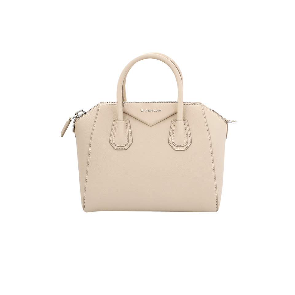 'Medium Antigona' Sugar Leather Satchel - Beige, Skin