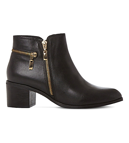 Black leather DUNE Pemberley leather ankle boots Cheap Sale