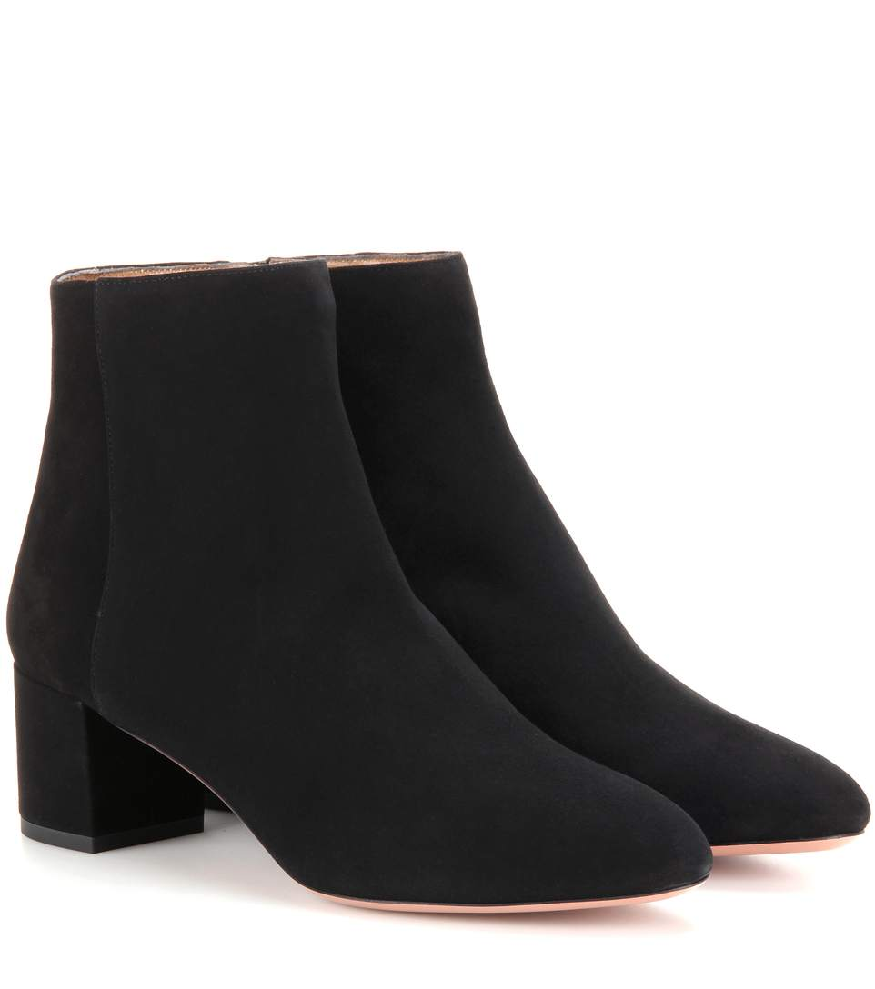 In Black Suede With Rounded Toe, 85 Mm Block Heel And Leather Sole With Golden Pineapple Logo., Llack