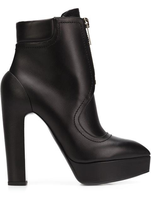 VERA WANG Vera Wang High-Heel Zip Boots - Black