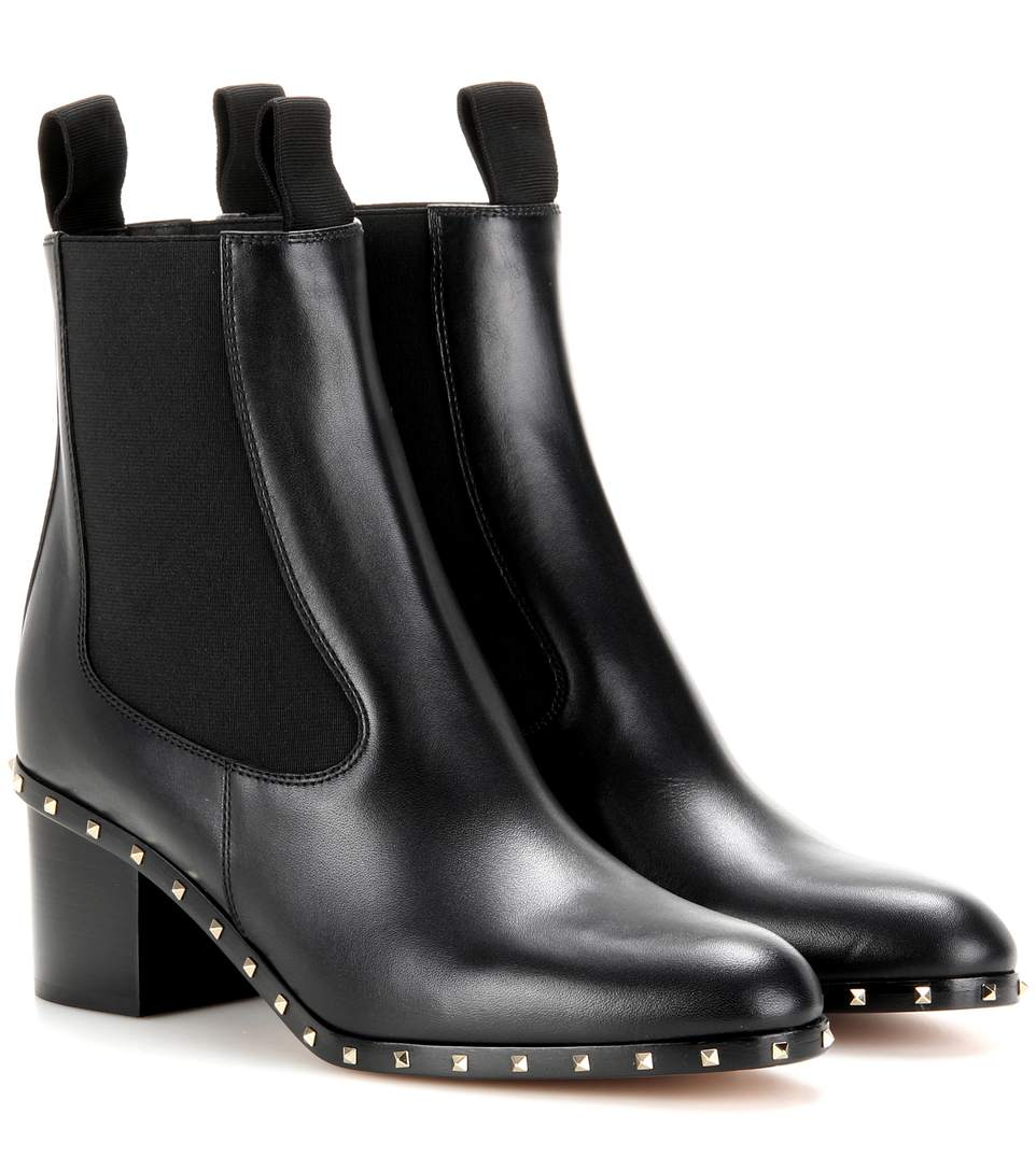 Soul Stud Leather Chelsea Boots, Black (Nero), Llack
