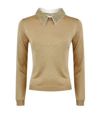 Alice + Olivia Embellished Knit Sweater Free Shipping Low Shipping Fee Clearance Buy Buy Cheap Comfortable WuN74GfJKr