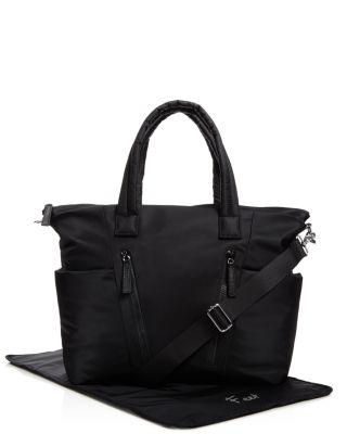 Ellie Nylon Diaper Bag - Black