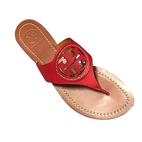59848bb1ce26ea Tory Burch Louisa Flat Thong Sandal Tumbled Leather In Cerise 600 ...