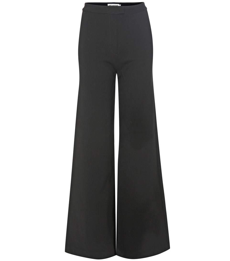 Acheter Pour Pas Cher En Ligne Vente Fiable Pantalon À Jambes Larges Auto-portrait Pas Cher 2018 Acheter Pas Cher Faire Acheter QykLR