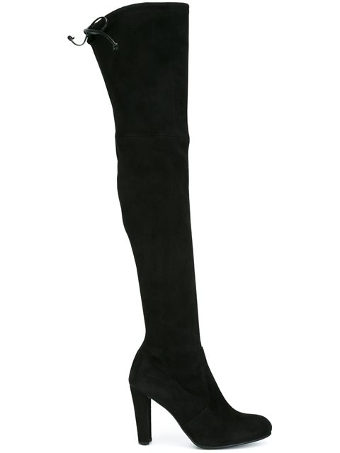 Woman Suede Over-The-Knee Boots Black