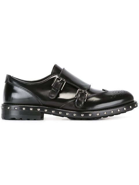 Dolce & Gabbana Studded Monk Shoes - Black