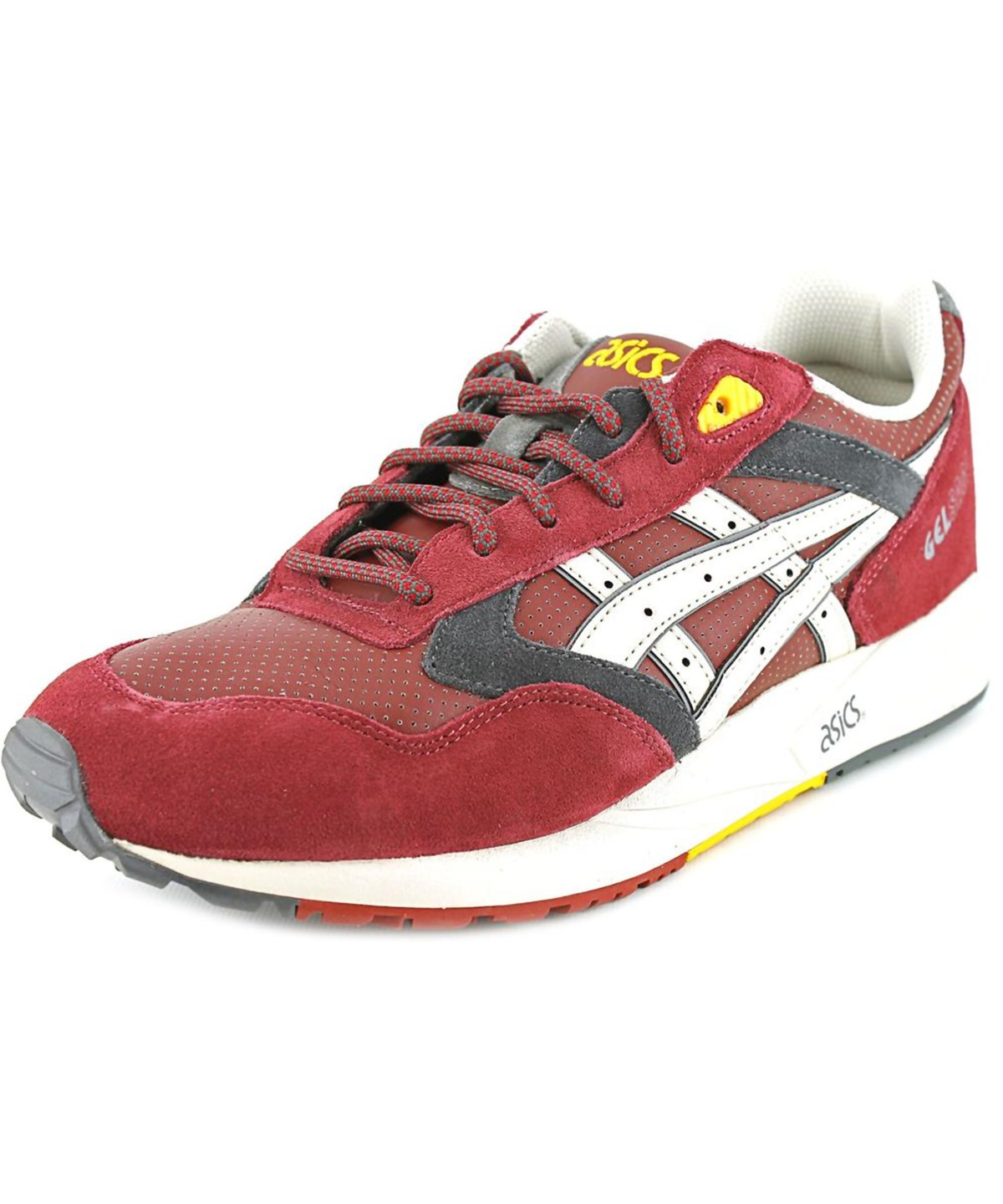 Asics Gel Saga Men Round Toe Suede Walking Shoe, Red