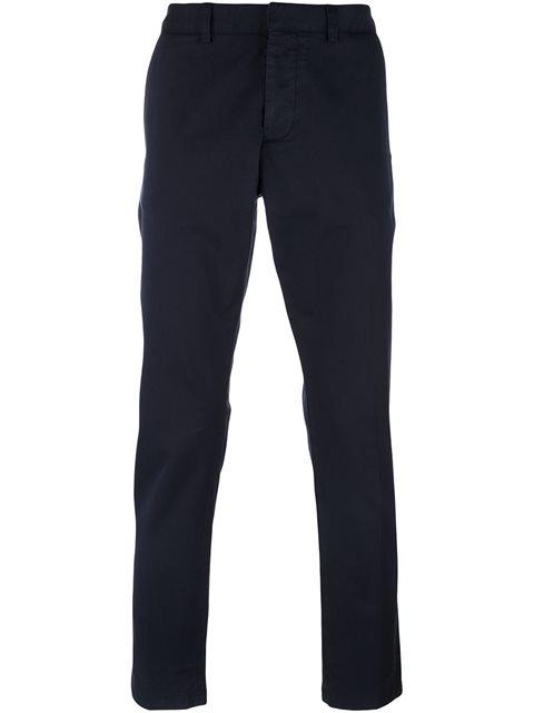 AMI ALEXANDRE MATTIUSSI Oversized Chino Trousers in Blue
