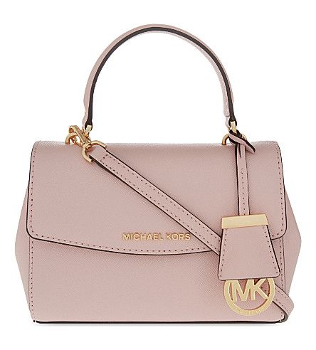 613288220add0 MICHAEL MICHAEL KORS AVA EXTRA SMALL SAFFIANO LEATHER CROSS BODY BAG