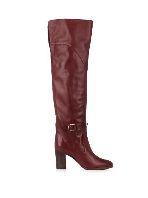 Knee-high leather boots Chloé kMK5v