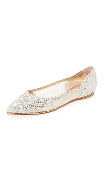 Gigi Pointed-Toe Evening Flats Women'S Shoes in Ivory