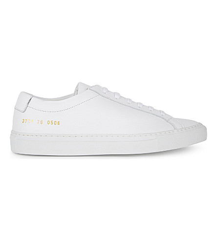 Common Projects Original Achilles Leather Low Tops in White Sale 2018 New Get 100% Guaranteed Sale Online dwxZF5gswR