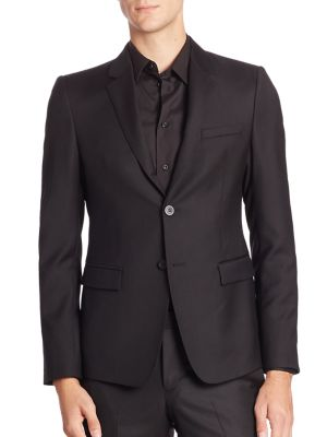 EMPORIO ARMANI Men'S Super 130S Wool Two-Piece Tuxedo Suit in Black