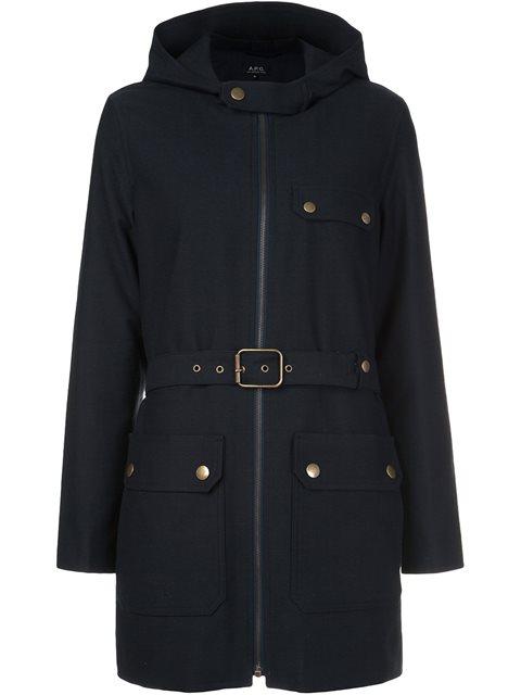 A.P.C. Belted Coat - Blue