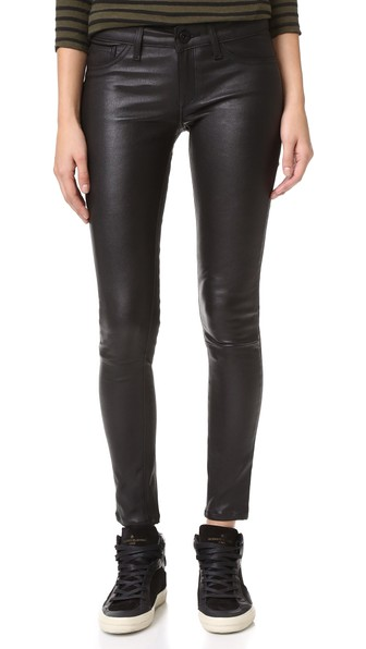 DL1961 1961 Emma Power Legging Leather & Coated Jeans in Poseidon
