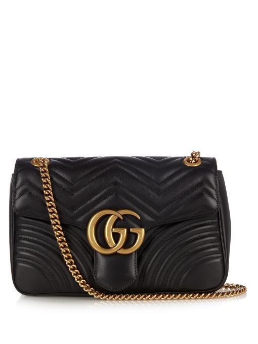GUCCI Gg Marmont Small Quilted-Leather Bag 2828dd7552a61