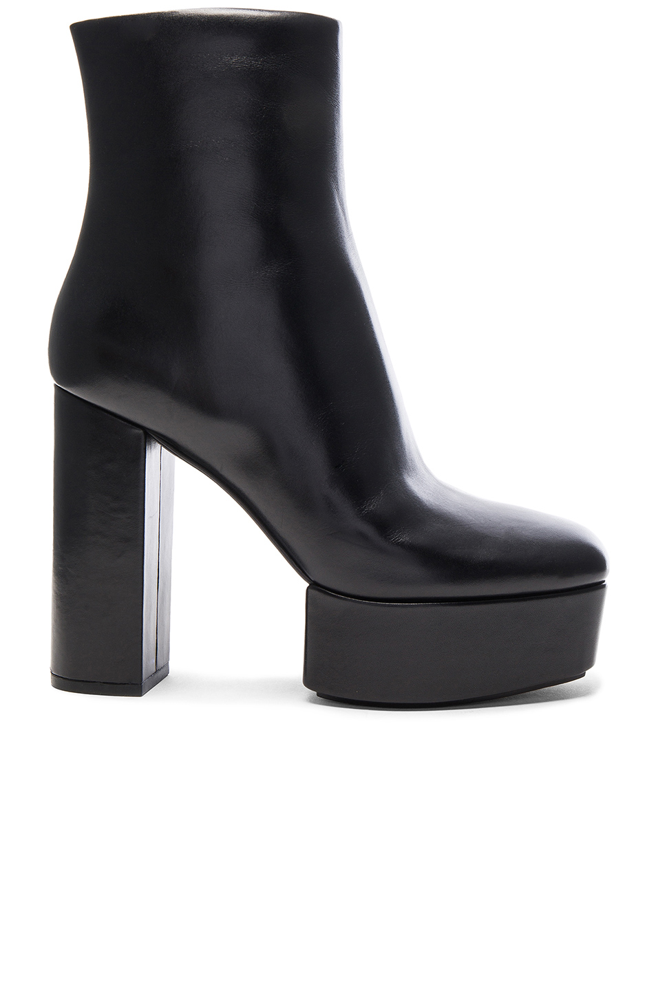 ALEXANDER WANG Cora Leather Platform Ankle Boots in Black