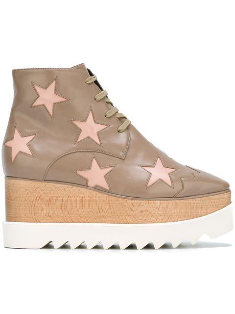 Elyse Star Platform Ankle Boot, Taupe/Tea Rose, Neutrals