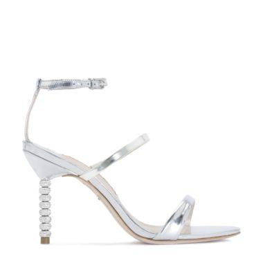 Women'S Rosalind Embellished High-Heel Sandals in Silver from SOPHIA WEBSTER