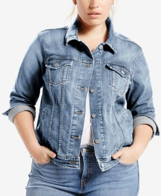Ex-Boyfriend Dream Of Life Denim Trucker Jacket, Ocean Sail