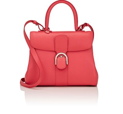 Brillant Sellier Mini Leather Bag, Pink