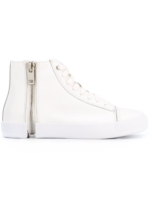 White Nentish Leather High-Top Sneakers