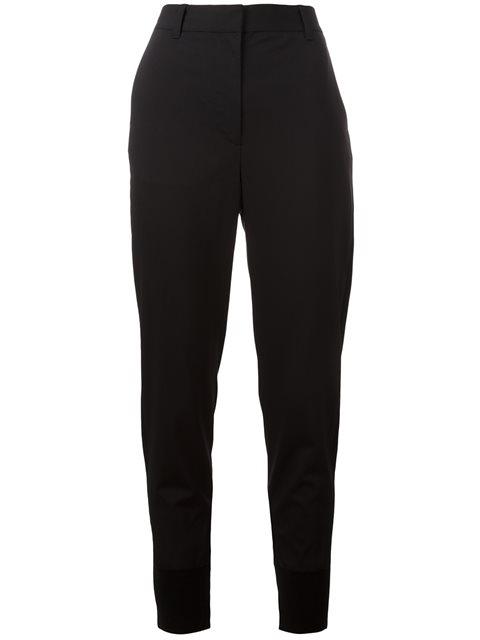 Black Wool Jogger Trousers
