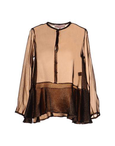 ANNA SAMMARONE Silk Shirts & Blouses in Brown