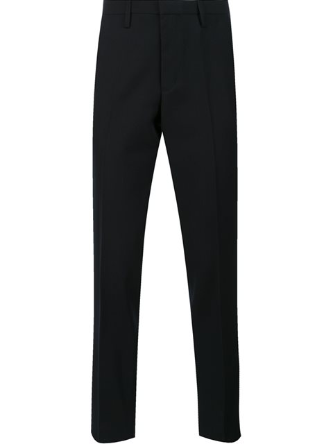 KOLOR Tapered Cropped Trousers in Blue