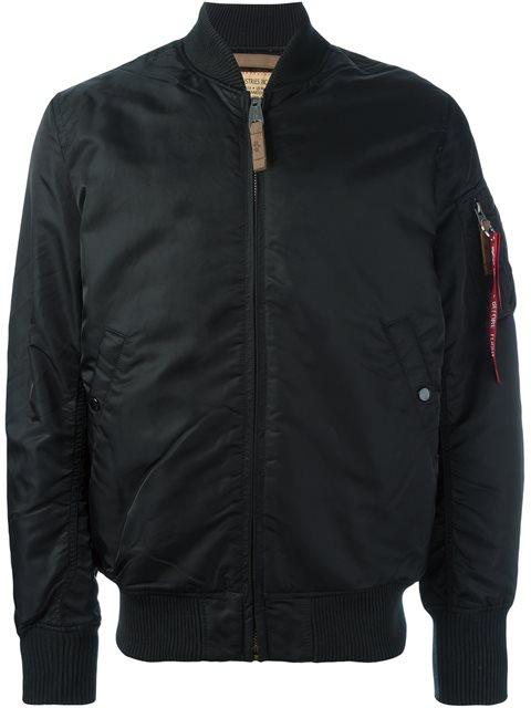 Zipped Bomber Jacket, Black