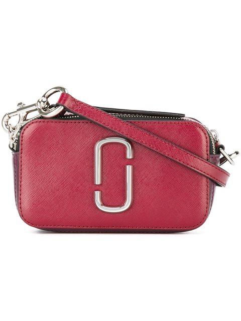 Snapshot Color Block Leather Camera Bag, Hibiscus Multi